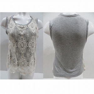 Xhilaration top Medium sleeveless crochet lace